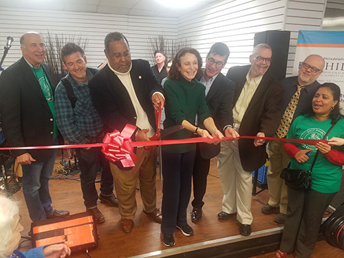 Ribbon cutting at Porch Light Project Kensington Kickoff