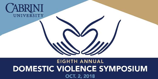 Domestic Violence Symposium logo - Cabrini University - October 2018