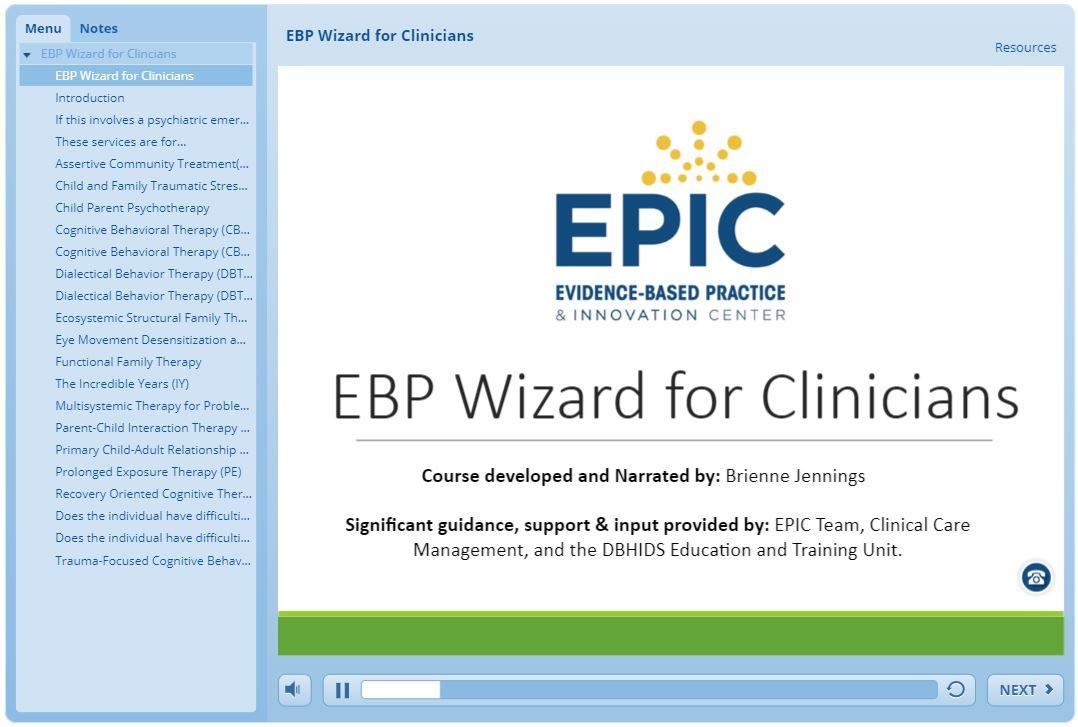 EPIC_EBP Training Module