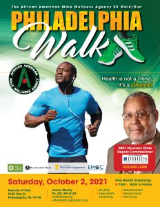 African American Male Wellness Philadelphia Walk 2021